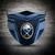 Buffalo Sabres face mask, football, face protection, four layers, pleated,