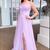 Spaghetti Straps Lilac Prom Dress Backless Long Evening Dress