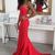 Red Sweetheart Sheath Mermaid Evening Dress, Formal Dress