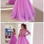 Stunning Appliques Tulle Long Prom Dresses, Ball Gown Prom Dress