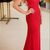 Sexy Backless Red Mermaid Evening Dress, Swee Train Long Prom Dress