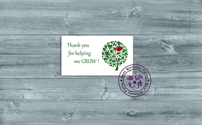 Thank You for Helping Me Grow Card, Thank You for Helping Me Grow Printable,