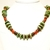 Rustic turquoise, carnelian and vintage wood one of a kind necklace by Dixie
