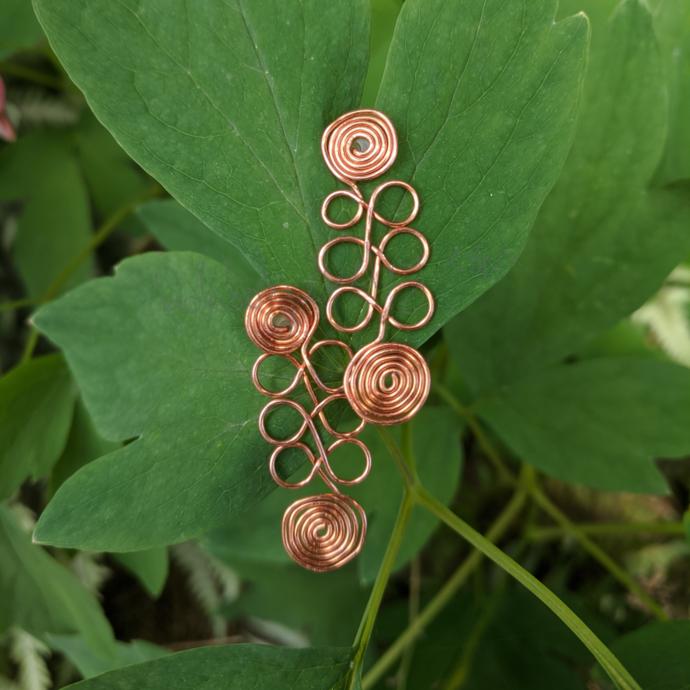 Handmade Copper Wire Post Earrings
