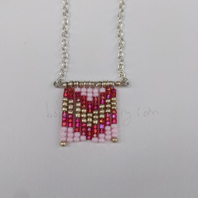Handmade Beaded Chevron Necklace