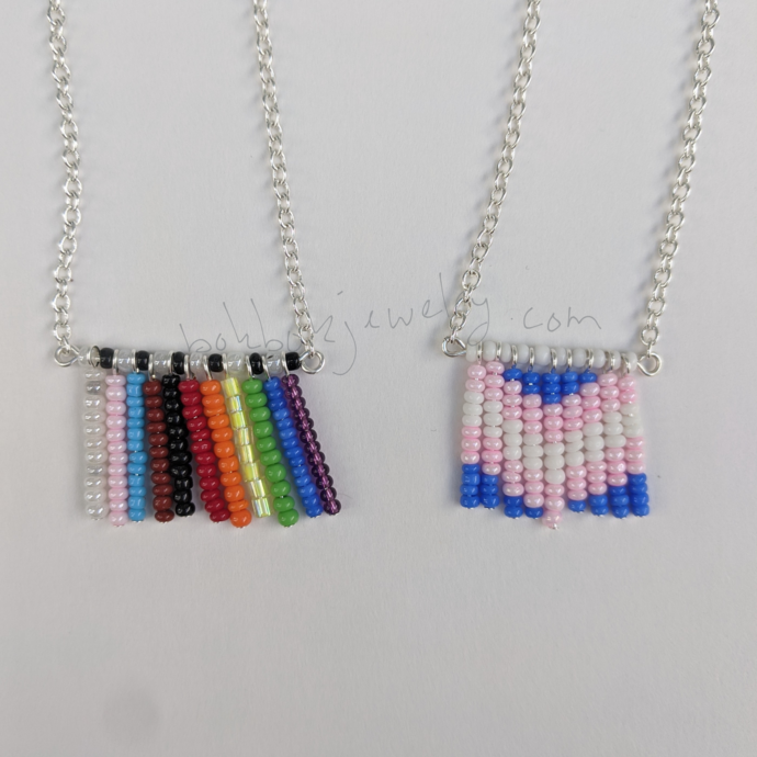 Handmade Beaded LGBT+ Pride Necklace