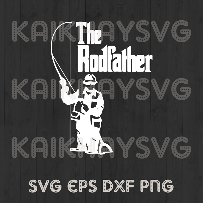 Download The Rodfather Mens Funny Fishing T Shirt By Kaikhaystore On Zibbet