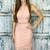 Sheath Square Neck Sleeveless Pink Lace Prom Dress, Simple Sheath Short Prom
