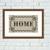 Home typography vintage cross stitch pattern