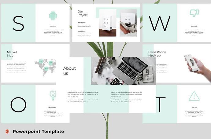 Modern & Clean Powerpoint Template, Modern Presentation Slides, Powerpoint