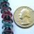 20 pcs Czech Glass 3-Petal Flower Beads Pink/Blue