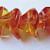 20 pcs Czech Glass 3-Petal Flower Beads Fuschia