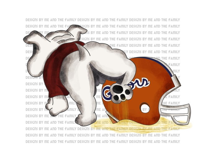 Uga peeing on a Florida Helmet, Damn right I am a bulldogs fan now and forever,