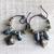 Tribal Earrings Hoops Dangle Pod and Kuchi Rustic Boho Copper Brass Oxidized