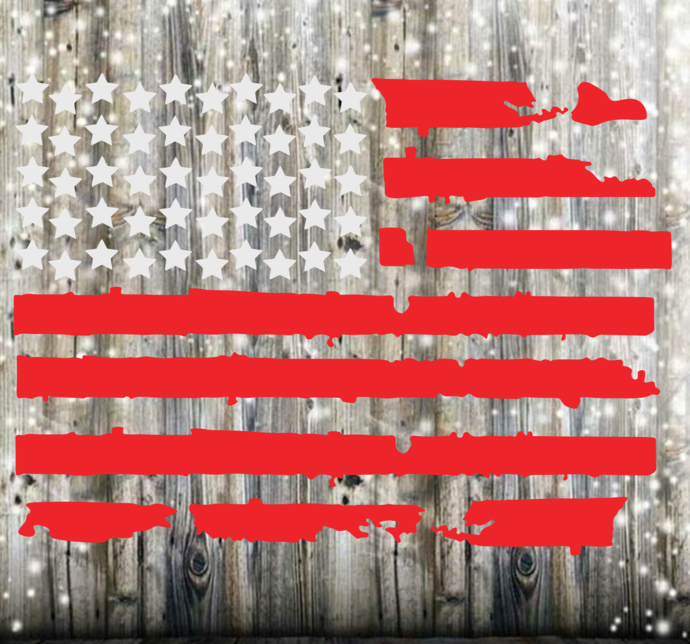 Distressed American Flag with 50 Stars Instant Download SVG and JPG