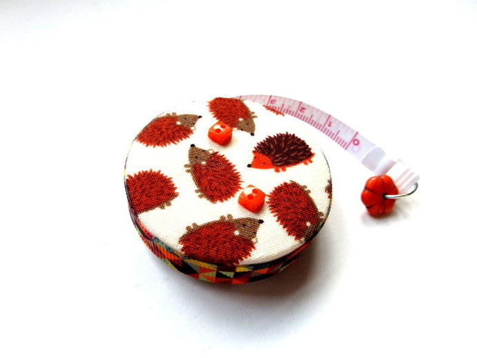 Tape Measure Brown Hedgehogs  Small Retractable Measuring Tape