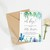 Blue Baby Shower Invitation, Diaper Raffle Card, Book for baby BS27