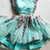 Mint Green Tulle Short Prom Homecoming Dress With 3D Applique