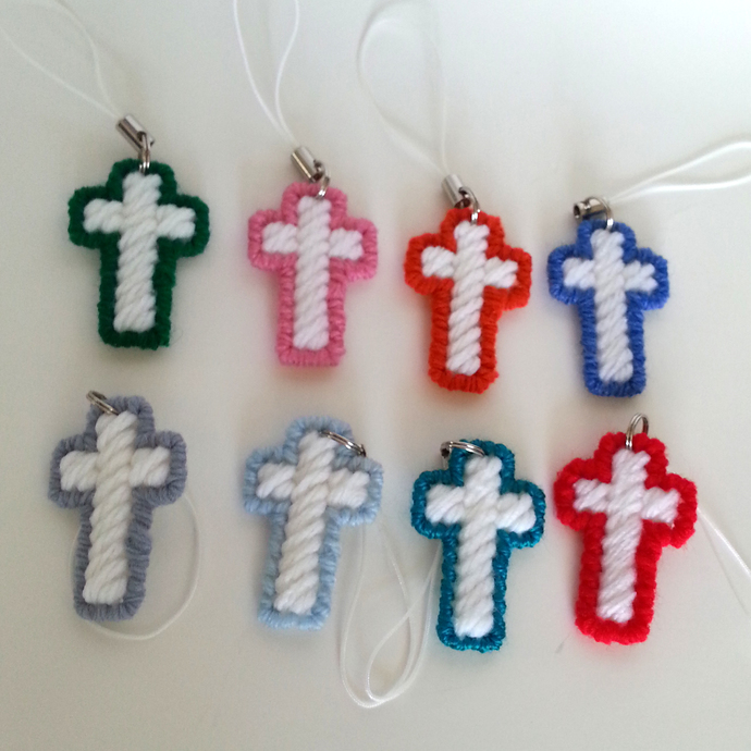 Cross Charm Christian Party Favor Set of 10