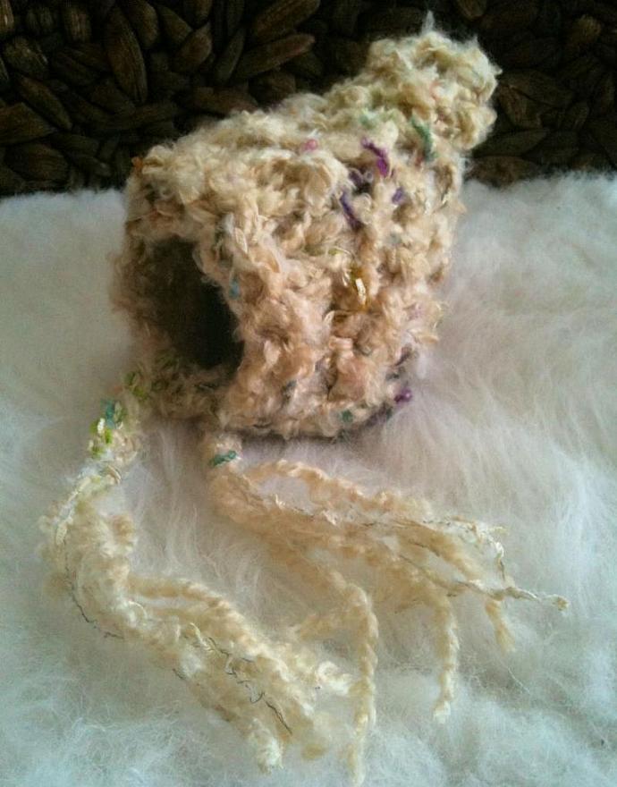 LIMITED EDITION- Newborn Pixie Bonnet - Boho Chic