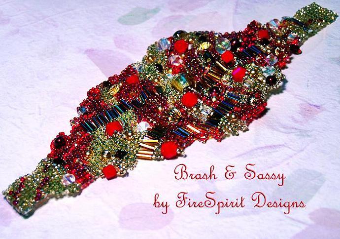 Brash & Sassy- handmade beadwoven bracelet