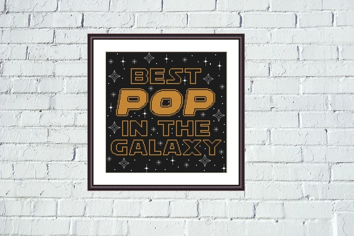 Best POP in the galaxy funny cross stitch pattern STAR WARS design