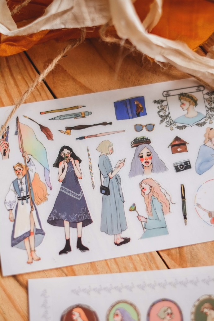 La Dolce Vita transfer sticker sheets - Literary girl - 2 sheets, perfect for