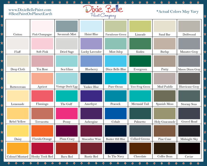 Select 2 Colors of Dixie Belle Chalk Mineral Paint