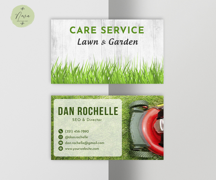 Personalized Lawn Garden Cards, Lawn Garden Business Card LG02