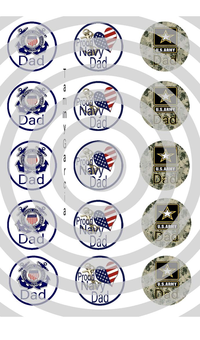 Military dad bottle cap images, handmade military bottle cap images