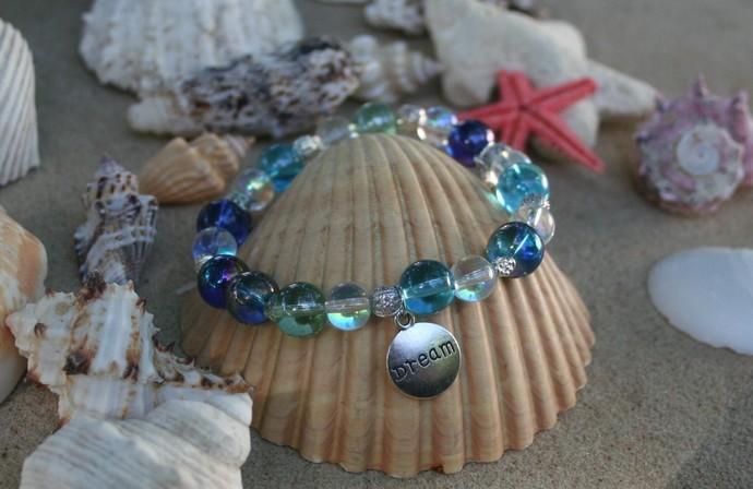 Sea Glass Dream Stretch Bracelet