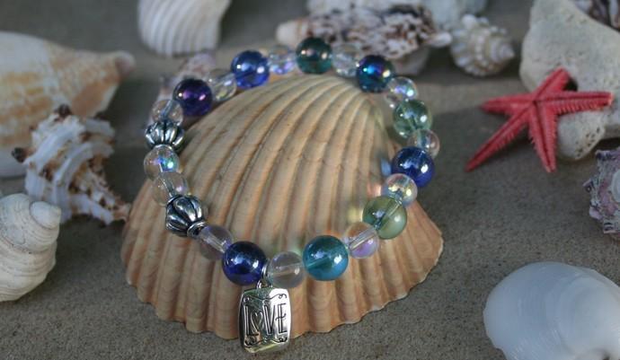 Sea Glass Love Bracelet