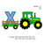 tractor pulling X embroidery design,tractor applique embroidery machine,birthday