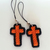 Cross Charms in Orange and Black