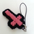 Christian Cross Charms in Pink and Black