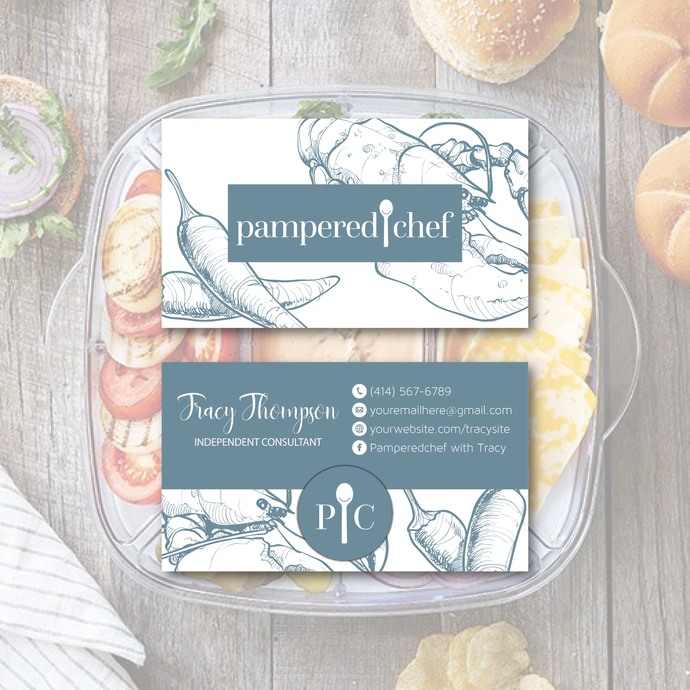 Pampered Chef Business Cards, Personalized Pampered Chef Business Card, Pampered