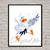 Skattl Disney print poster, nursery room, wall decor, Little Mermaid Skattl