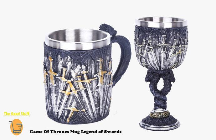Game Of Thrones Mug Legend of  Swords -Handmade Craft Mug-Dragon Mug Tankard