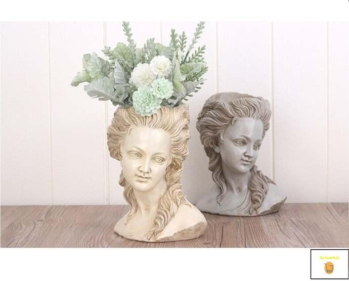 Handmade Succulent Flower Pot - Elegant Greek Goddess Planter Garden