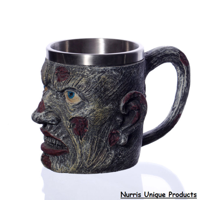 Handmade Emoji Style mug S-Halloween Cup-Handmade Craft&Painting Funny Mug-Large