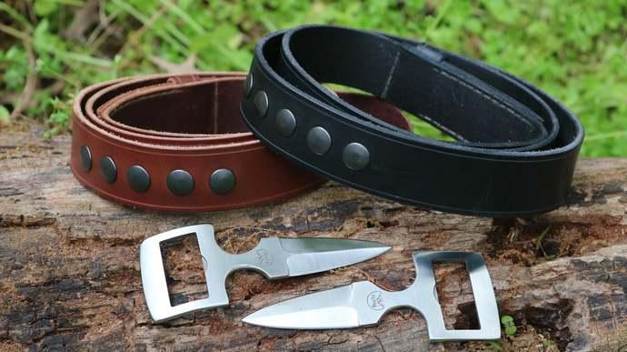 Belt Buckle Knife - Knife Belt - Buckle Knife - Belt Knife By Burls