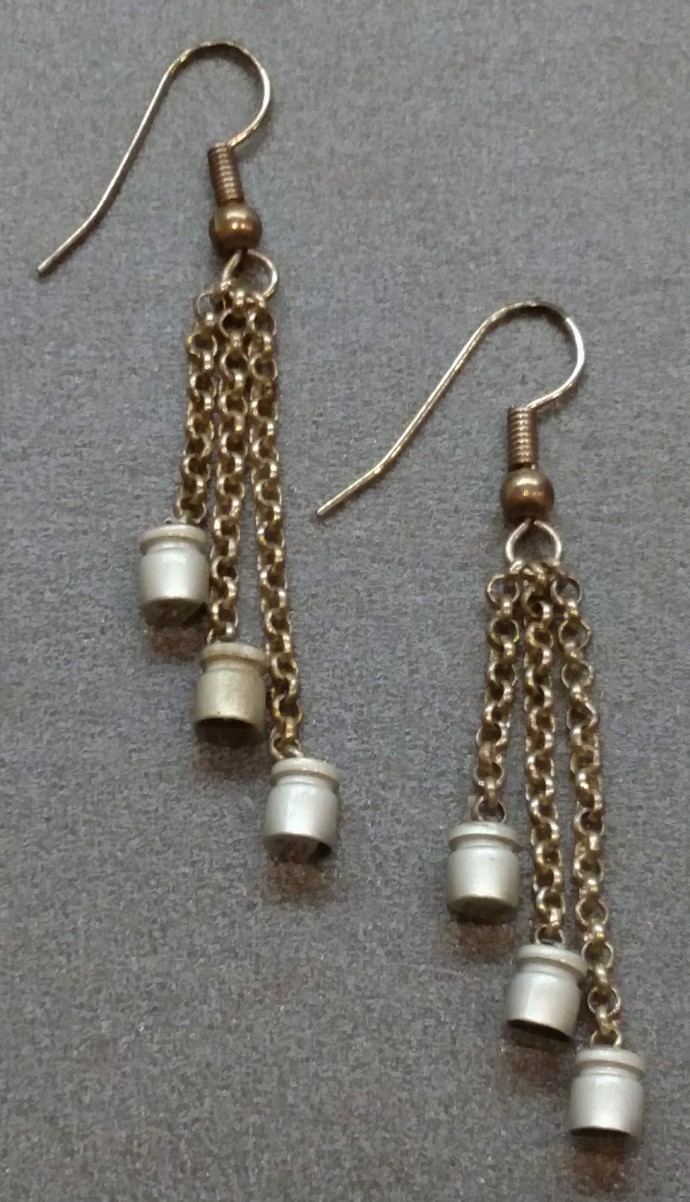Computer Capacitor Dangle Earrings w/ silver plated findings