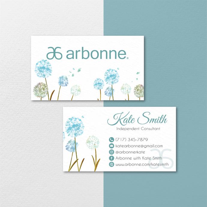 Personalized Arbonne Business Cards, Floral Arbonne Business Card, Custom