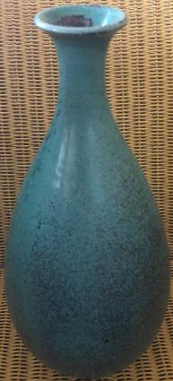 """Vase made in Denmark in glazed porcelain """"robin's eggs"""""""