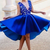 Lace Homecoming Dress, Royal Blue Homecoming Dress, V Neck Homecoming Dress,