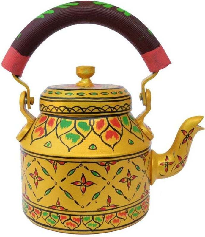 Handpainted  Indian Tea Kettle