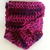 Variegated Pink Red Purple Infinity Scarf