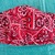 Face Mask, Red Bandana and Cotton Denim, Two layers, 100% Cotton, adult, kid,