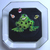 Carved Lucite Frog Button by Cheryl Wood Empson
