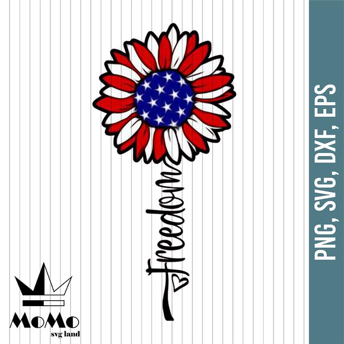 Sunflower Svg, July 4th Svg, Freedom Svg, Stars and Stripes Svg, Merica Svg,